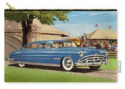 1951 Hudson Hornet Fair Americana Antique Car Auto Nostalgic Rural Country Scene Landscape Painting Carry-all Pouch