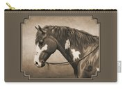 War Horse Aged Photo Fx Carry-all Pouch