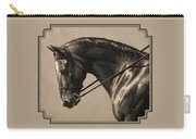 Dark Dressage Horse Aged Photo Fx Carry-all Pouch