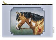 Buckskin Native American War Horse Carry-all Pouch by Crista Forest