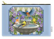 Fountain Festivities - Birds And Birdbath Painting Carry-all Pouch
