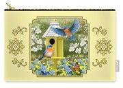 Bluebird Garden Home Carry-all Pouch by Crista Forest