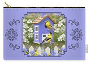 Goldfinch Garden Home Carry-all Pouch by Crista Forest