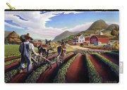 Appalachian Folk Art Summer Farmer Cultivating Peas Farm Farming Landscape Appalachia Americana Carry-all Pouch
