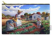 Family Vegetable Garden Farm Landscape - Gardening - Childhood Memories - Flashback - Homestead Carry-all Pouch by Walt Curlee