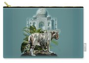 White Tiger And The Taj Mahal Image Of Beauty Carry-all Pouch