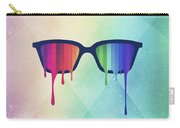 Love Wins Rainbow - Spectrum Pride Hipster Nerd Glasses Carry-all Pouch