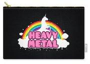 Heavy Metal Funny Unicorn  Rainbow Mosh Parody Design Carry-all Pouch