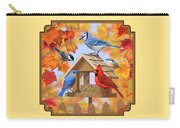 Bird Painting - Autumn Aquaintances Carry-all Pouch by Crista Forest