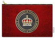 Imperial Tudor Crown Over Red Velvet Carry-all Pouch
