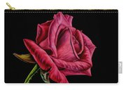 Red Rose On Black Carry-all Pouch