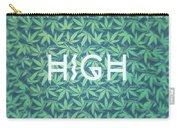 High Typo  Cannabis   Hemp  420  Marijuana   Pattern Carry-all Pouch
