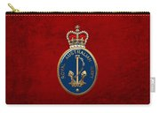 Royal Australian Navy -  R A N  Badge Over Red Velvet Carry-all Pouch