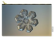 Snowflake Photo - Massive Gold Carry-all Pouch by Alexey Kljatov