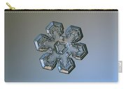 Snowflake Photo - Massive Silver Carry-all Pouch by Alexey Kljatov