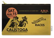 Calistoga Motorcycle Races Carry-all Pouch