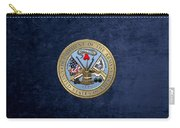 U. S. Army Seal Over Blue Velvet Carry-all Pouch