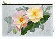 Two Wild Roses Carry-all Pouch
