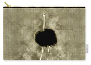 Ostrich Portrait Carry-all Pouch
