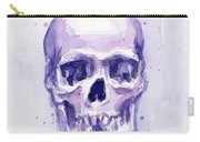 Purple Skull Carry-all Pouch