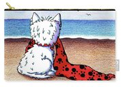 Kiniart Beach Blanket Westie Carry-all Pouch