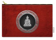 Treasure Trove - Silver Buddha On Red Velvet Carry-all Pouch