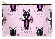 Pink Cool Treats - Cat Typography Carry-all Pouch