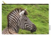Zebra Portrait Carry-all Pouch