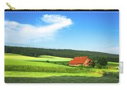 Red House In Field - Amshausen, Germany Carry-all Pouch