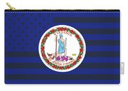 Virginia State Flag Graphic Usa Styling Carry-all Pouch
