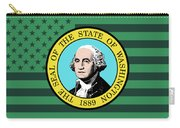 Washington State Flag Graphic Usa Styling Carry-all Pouch