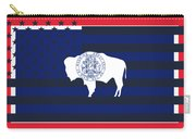 Wyoming State Flag Graphic Usa Styling Carry-all Pouch