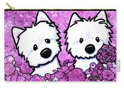 Kiniart Westies In Flowers Carry-all Pouch