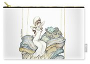 The Princess And The Pea, Illustration For Classic Fairy Tale Carry-all Pouch