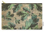 Oak Tree Leaves And Acorns, Autumn Dictionary Art Carry-all Pouch