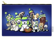 12 Dogs On Blue Carry-all Pouch