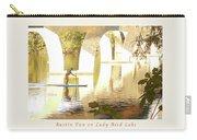 Austin Texas - Lady Bird Lake - Mid November Three - Greeting Card Carry-all Pouch by Felipe Adan Lerma