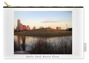 Birds And Fun At Butler Park Austin - Silhouettes 1 Poster And Greeting Card Carry-all Pouch