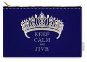 Keep Calm And Jive Deep Blue Diamond Tiara Carry-all Pouch