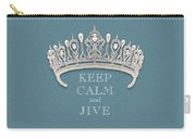 Keep Calm And Jive Diamond Tiara Turquoise Texture Carry-all Pouch
