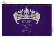 Keep Calm And Jive Diamond Tiara Deep Purple  Carry-all Pouch