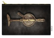 Antique Shoulder Drill Backside On Black Carry-all Pouch