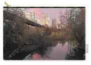Austin Hike And Bike Trail - Train Trestle 1 Sunset Triptych Right Carry-all Pouch