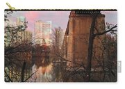 Austin Hike And Bike Trail - Train Trestle 1 Sunset Triptych Middle Carry-all Pouch