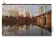 Austin Hike And Bike Trail - Train Trestle 1 Sunset Triptych Left Carry-all Pouch