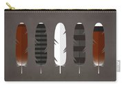 Raptor Feathers - Square Carry-all Pouch by Peter Green
