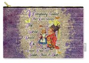 Alice With The Duchess Vintage Dictionary Art Carry-all Pouch