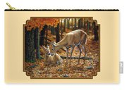 Whitetail Deer - Autumn Innocence 2 Carry-all Pouch by Crista Forest