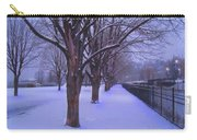 Evening Snow Path At Waterfront Park Burlington Vermont Carry-all Pouch