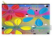 Bright Flowers Intertwined Carry-all Pouch